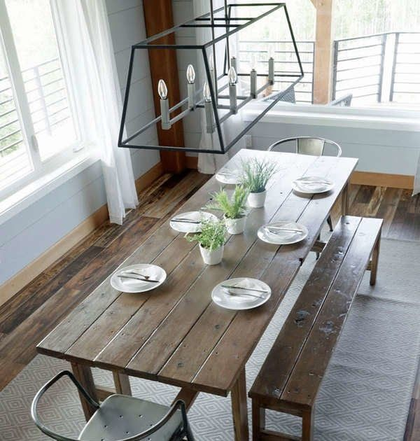 25 Diy Dining Tables Bob Vila Diy Live Edge Table With Steel Base .