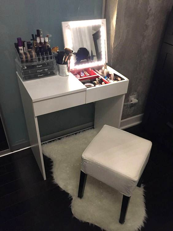 15 Super Cool Vanity Ideas For Small Bedrooms | Bedroom diy .