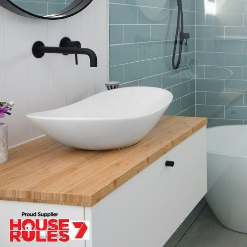 Bamboo Timber Vanity Top 900mm on House Rules 7 $179 | Timber .