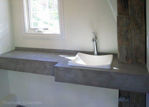 Concrete Vanity Tops -Trueform Concrete Custom Work | Vanity tops .