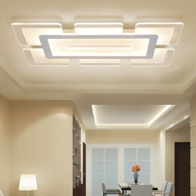 Rectangular LED Flush Light Minimalist Acrylic Ultrathin Ceiling .