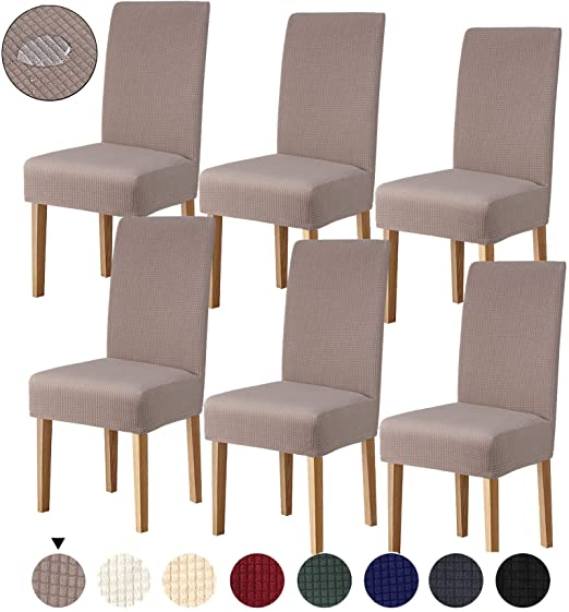 Amazon.com: Joypea Dining Chair Covers Stretch Washable Removable .