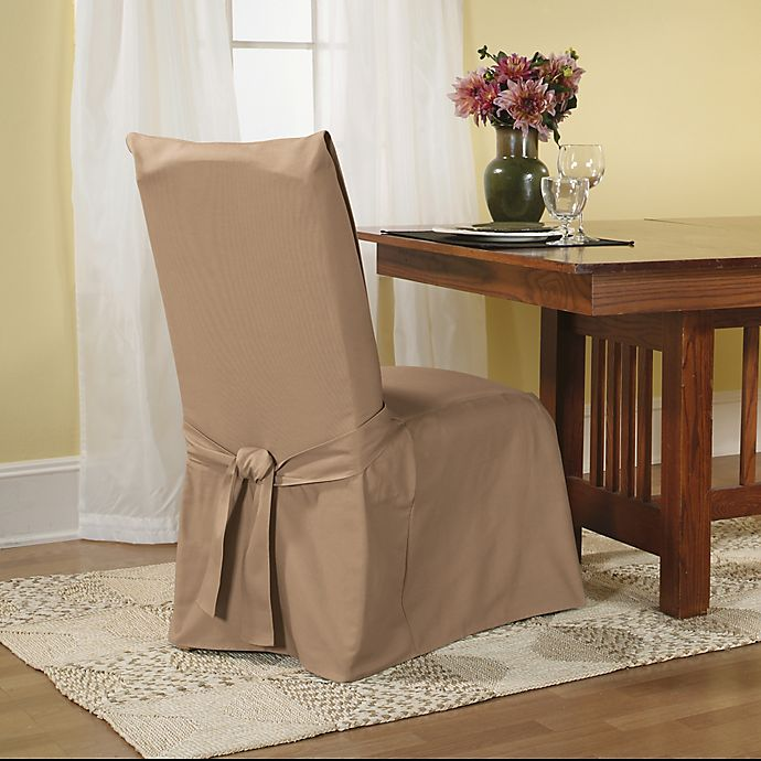 Sure Fit® Duck Supreme Cotton Dining Room Chair Slipcover | Bed .
