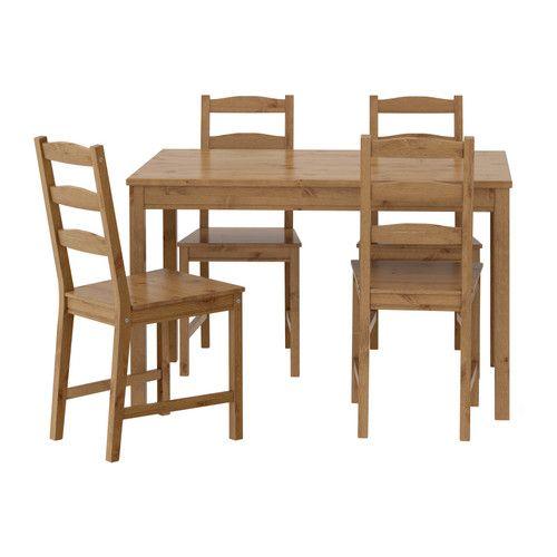 JOKKMOKK Table and 4 chairs, antique stain - IKEA | Ikea dining .