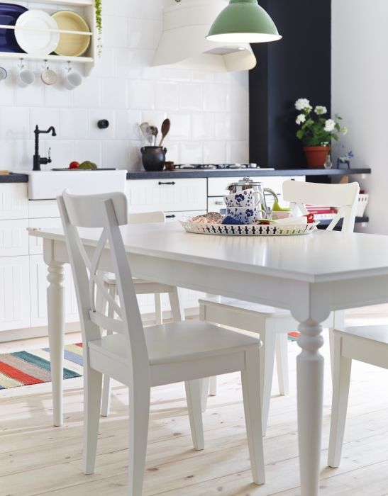 INGATORP / INGOLF Table and 4 chairs, white - IKEA | Ikea dining .