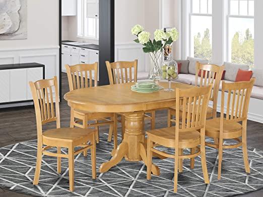 Amazon.com: East West Furniture Dinette set 6 Fantastic wood .