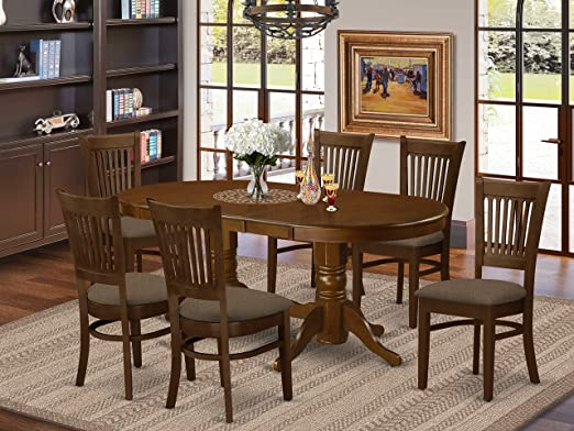 Amazon.com - 7 Pc Dining room set Table with Leaf and 6 Dining .