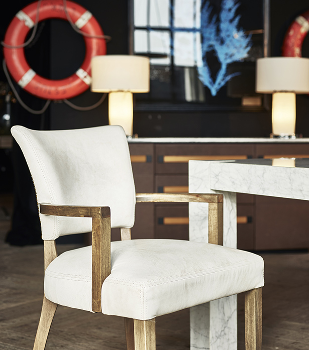 Leather & Fabric Dining Chairs - Mimi with Arm | Timothy Oulton .