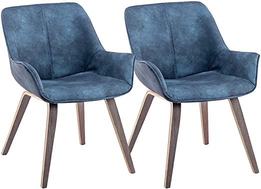 Amazon.com - YEEFY Modern Living Room Chairs with arms Blue Accent .