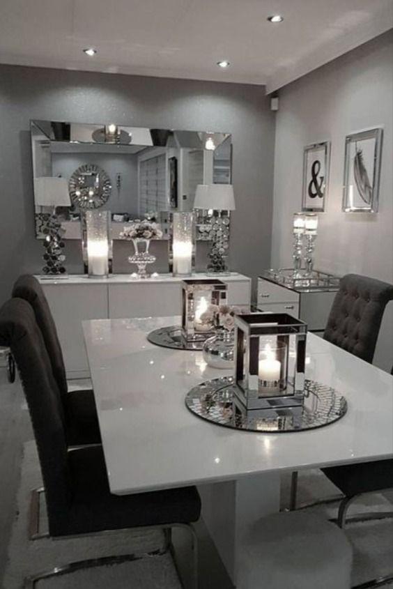 """SANDOR 2"""" White Glass & White High Gloss Extendable Dining Table ."""