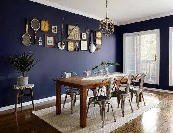 Navy Blue Dining Room Decor Ideas | Domino | Blue dining room .