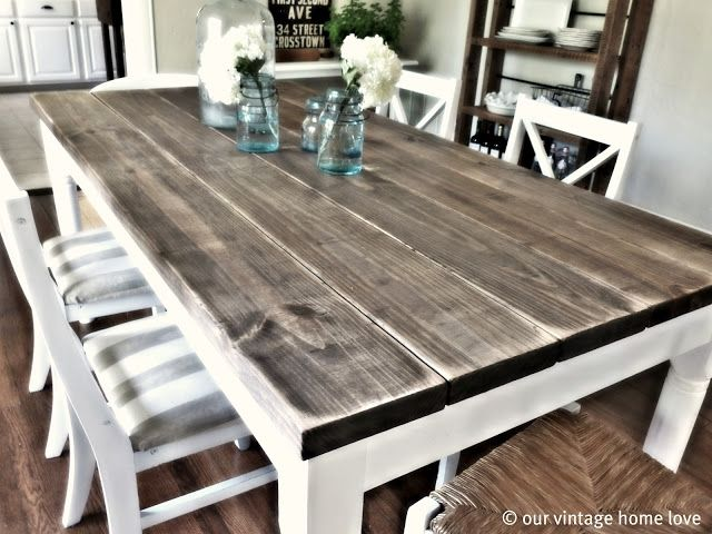 10 DIY dining table ideas - build your own table | Diy dining room .
