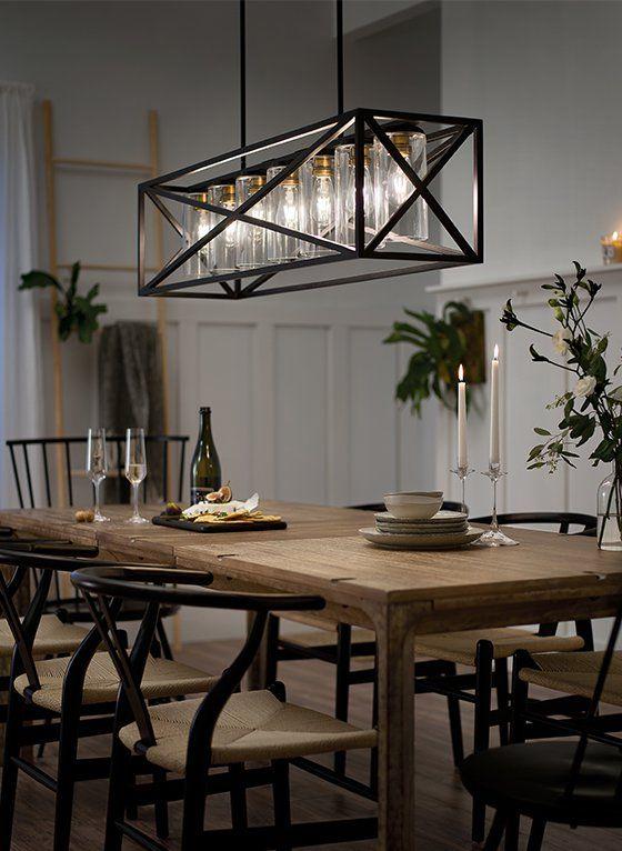 Modern Farmhouse | Farmhouse dining room lighting, Modern .