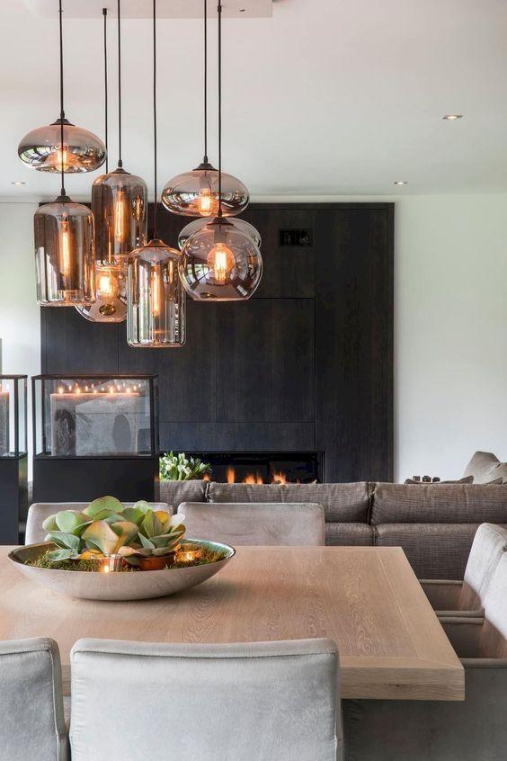 Entryway Decor Ideas 2020 in 2020   Dining lighting, Living room .