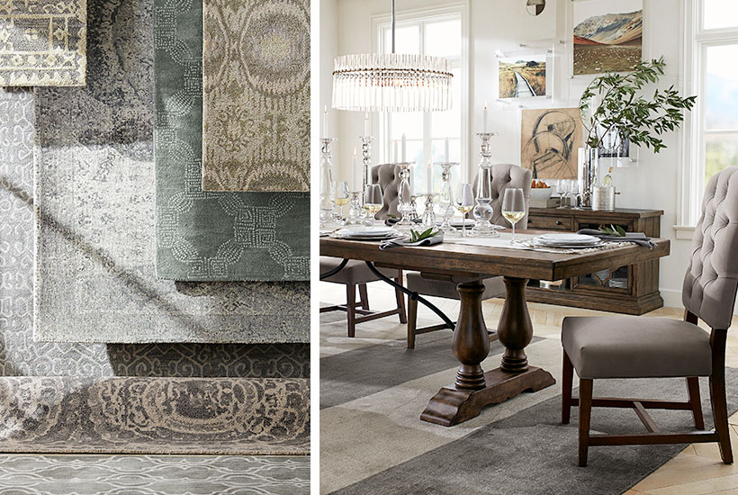 How to Choose the Perfect Rug for Your Dining Room   Pottery Ba