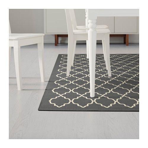 HOVSLUND Rug, low pile, dark gray - IKEA | Ikea, Rugs, Ikea r