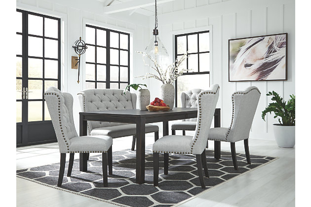 Jeanette Dining Table and 4 Chairs and Bench Set | Ashley .