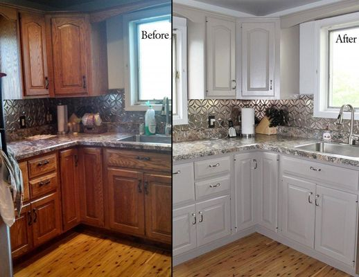 How to Paint your kitchen cabinets like a pro. D