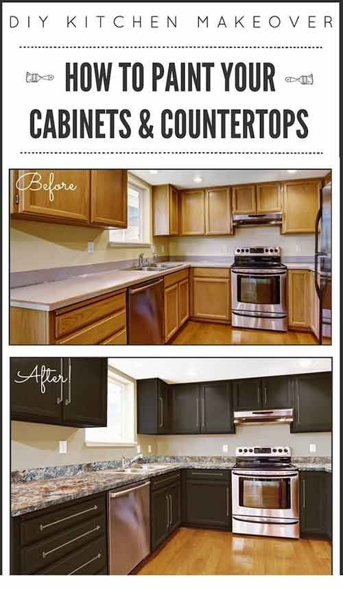 How To Paint Paint Kitchen Cabinets And Countertops | Kitchen .
