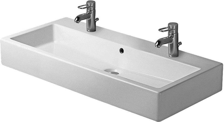 Attractive Double Faucet Bathroom Sink Part 3 - Duravit Trough .