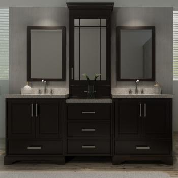 """Ariel M085D-ESP Stafford 84"""" Double Sink Bathroom Vanity Set ."""