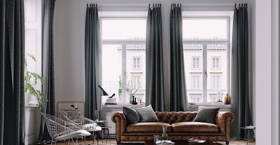 Elegant Tall Curtains Ideas for Your Home Living Room - Hoommy.c