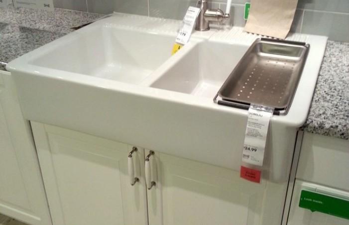 Ikea Sink Top At Cool Redo Kitchen Design Light Grey Subway Tile .