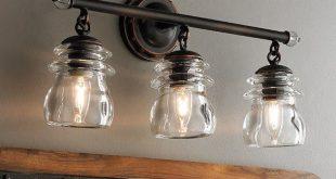 Industrial Chic to Rustic Farmhouse Bath Lights | Rustic bathroom .