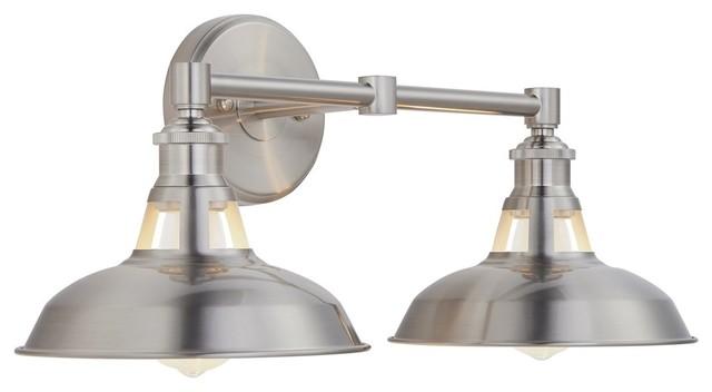 Olivera 2-Light Wall Sconce - Farmhouse - Bathroom Vanity Lighting .