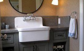 Farmhouse Sinks in the Bathroom - QB Blog | Custom bathroom vanity .