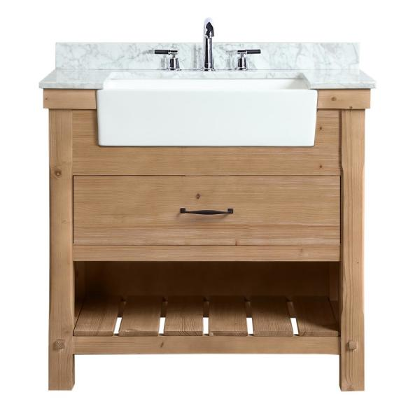 Ari Kitchen and Bath Marina 36 in. Single Bath Vanity in Driftwood .