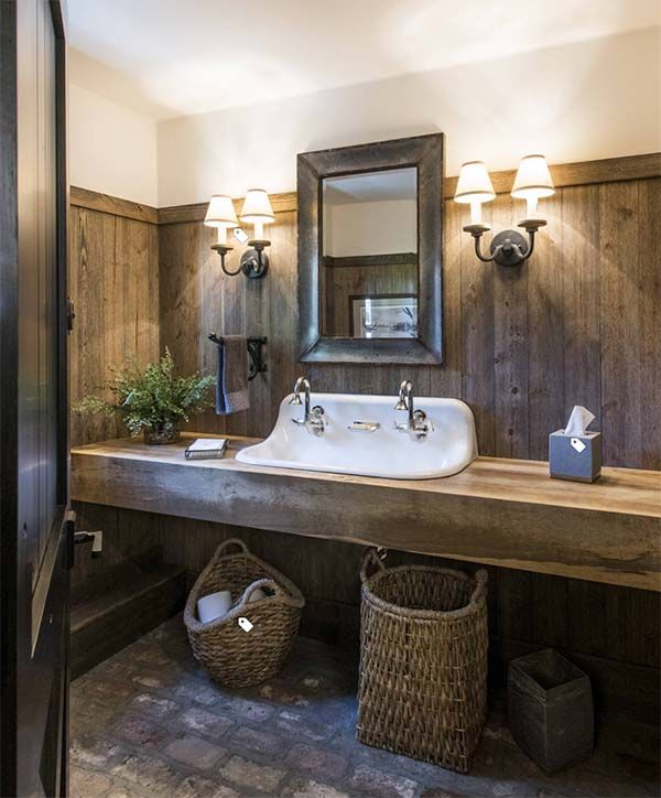 14 Amazing Farmhouse Trough Bathroom Sink Designs | Farmhouse .
