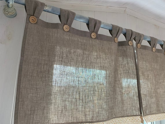 Farmhouse curtains for living room Ruffled Country Kitchen Two | Et