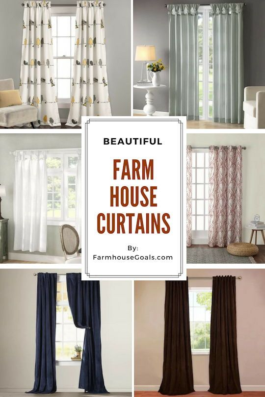 Farmhouse Curtains & Rustic Curtains - Farmhouse Goals in 2020 .