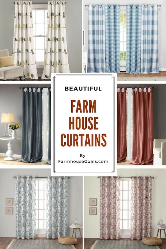 Farmhouse Curtains & Rustic Curtains - Farmhouse Goals | Curtains .