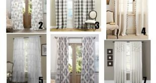 Gray Curtains. Farmhouse curtains. Curtains for all rooms. White .