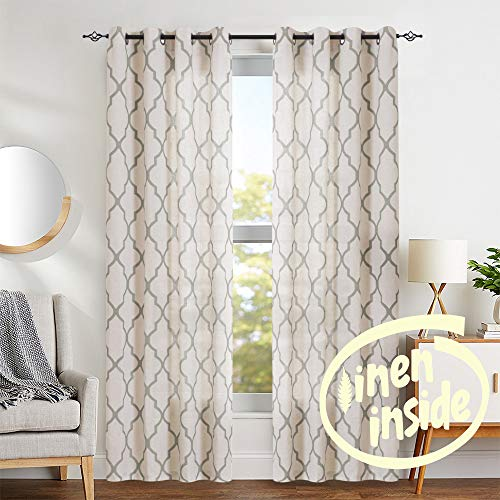 jinchan Moroccan Tile Print Curtains for Living Room Quatrefoil .