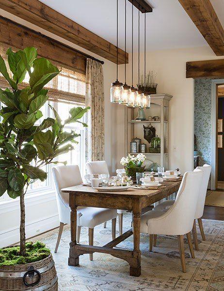 Fresh Farmhouse Lighting | Dining Rooms | Farmhouse dining room .