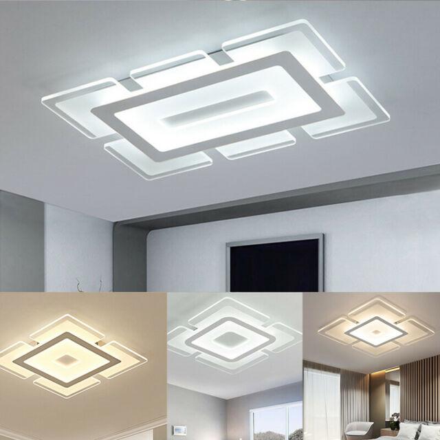 Classic White Flush Mount Fixture Wood Bead 3-Light Ceiling Light .