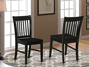 Amazon.com: East West Furniture Norfolk kitchen chairs - Wooden .