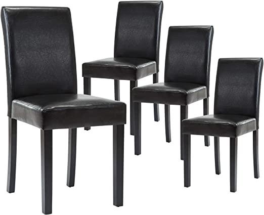 Amazon.com: LSSBOUGHT Set of 4 Urban Style Leatherette Dining .