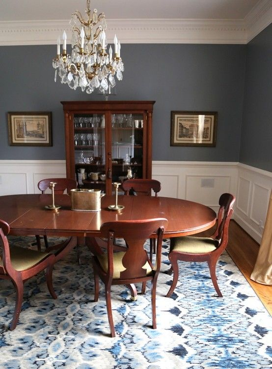 The Best Dining Room Paint Color | Dining room blue, Dining room .