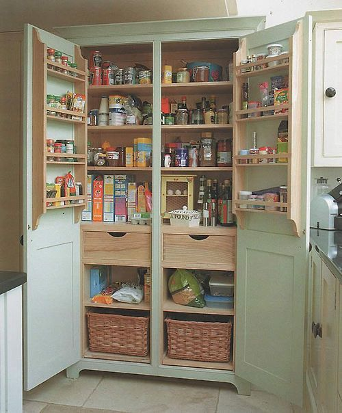 Freestanding Kitchen Cupboard. Great idea for those who need more .