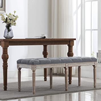 Amazon.com: chairus Fabric Upholstered Dining Bench - Classic .