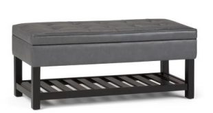 Faux Leather - Gray - Bedroom Benches - Bedroom Furniture - The .