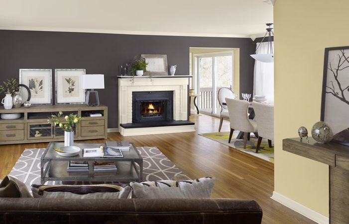 Living Room Layout And Decor Blue Grey Yellow Color Schemes Colors .
