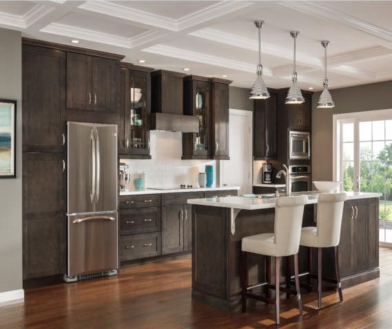 Dark Gray Kitchen Cabinets - Aristokra