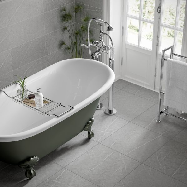 Rico Pearl Grey Wall & Floor Bathroom Tiles 500 x 500