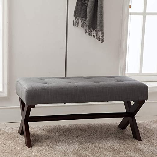 Amazon.com: Upholstered Bedroom Benches, Fabric Bed Side Ottoman .