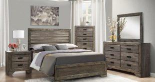 Grayson Grey Oak Panel Bedroom Set from Elements Furniture .